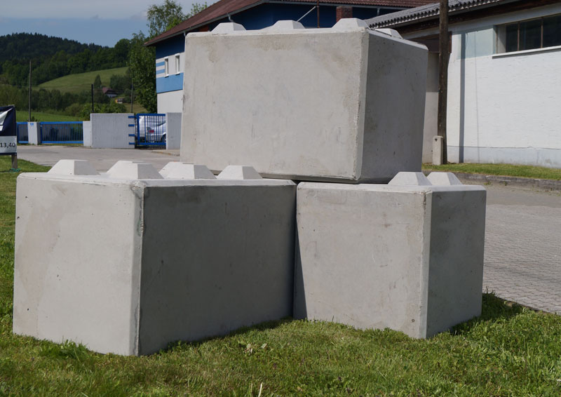 Hehenberger Beton-Fertigteilblöcke