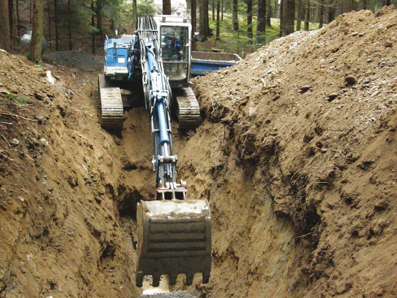 Tiefbauarbeiten von Hehenberger Bau aus Peilstein im Bezirk Rohrbach