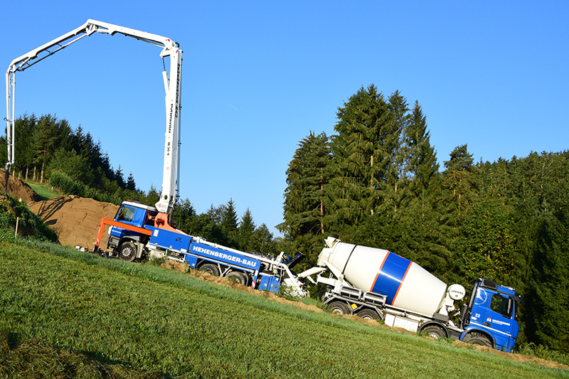 Hehenberger Betonpumpe im Einsatz im Bezirk Rohrbach