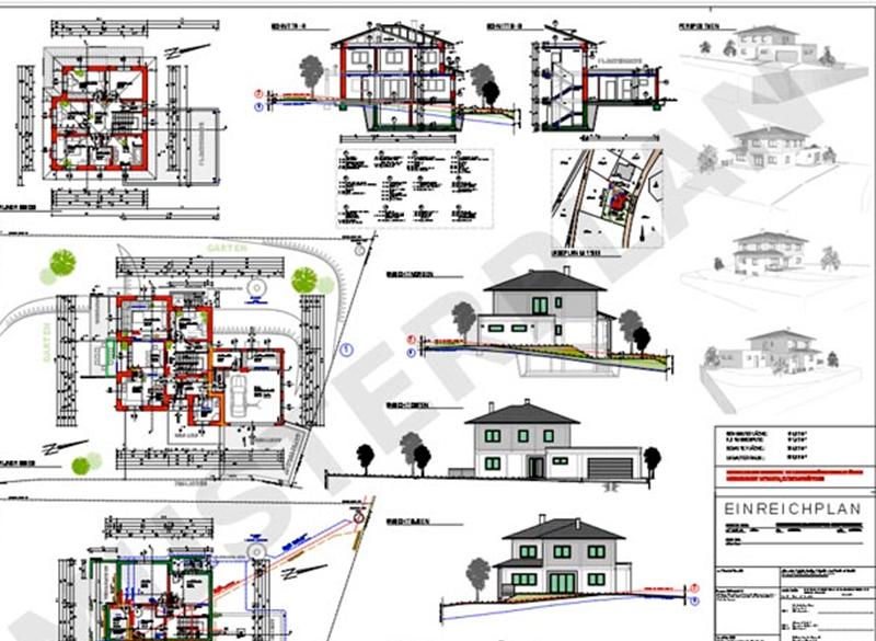 Einreichplan von Hehenberger Bau, Peilstein, Rohrbach, Mühlviertel